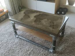 great concrete coffee table diy i made a with recessed world map cool uk australium nz