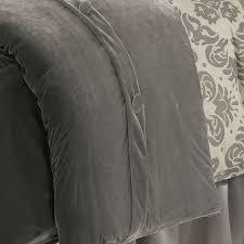 kerrington slate grey velvet duvet cover