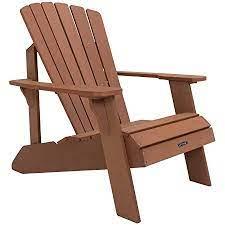 Lifetime Faux Wood Adirondack Chair Brown 60064 Garden Outdoor