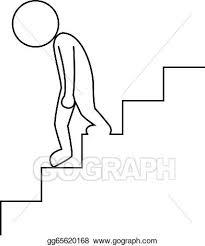 downstairs clipart. Unique Clipart Sad Businessman Walking Downstairs On Downstairs Clipart