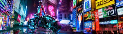 Cyberpunk Tokyo. Dual monitor ...
