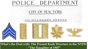 Nypd Salary 2016 Chart Whats The Deal With The Present Rank Structure In The Nypd