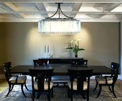 mid century modern rectangular chandelier dining room home beautiful large rectangu