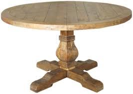camrose reclaimed pine single pedestal round dining table