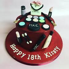 Make Up Cake 18th Birthday Cake Red Birthday Cake Teenage Girl