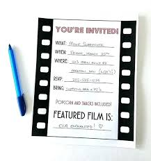 Movie Night Party Invitation Template Movie Ticket Templates For