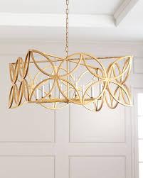 gold leaf chandelier7