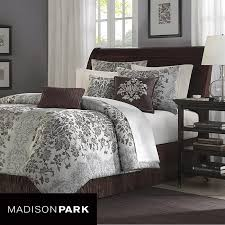 madison park carrington 7 piece jacquard comforter set in beige find this pin and more on cal king bedding