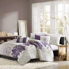 madison park lola purple california king 7 piece bed in a bag
