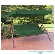 Replacement 3 Seater Swing Seat Canopy Cover and Cushions Set