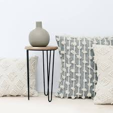 textured throw pillows in cream sheep's wool – the citizenry