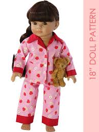 Doll Patterns Delectable 48 Inch Doll Pajamas Sewing Pattern TREASURIE My Childhood Treasures