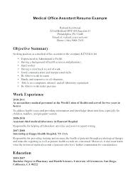 Example Of Medical Assistant Resume Cover Letter For Medical Office Assistant Bitacorita