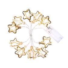 Holiday Living Gold Mini Lights Us 3 17 24 Off 1 1m 10 Led Gold Hollow Star Led String Light Mini Fairy Lights For Christmas Holiday Party Wedding Home Store Decor In Lighting