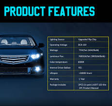 Details About H7 Led Headlight Bulb For Hyundai Santa Fe Sonata Elantra Conversion Kit Lamp