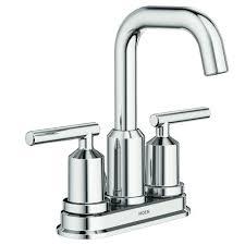 chrome bathroom faucet. Moen® Gibson Two-Handle 4\ Chrome Bathroom Faucet N