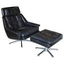 danish leather lounge chair and ottoman by esa for sale at stdibs