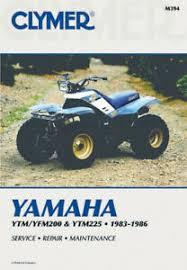 clymer maintenance shop manual for yamaha atv ytm200 1983 1985 1985 yamaha 125 atv at 1985 Yamaha Atv