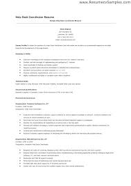 Resume Help Simple Help Desk Support Resume Format Dadajius