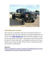 Buying salvage pick up trucks becomes easy at ibidsafely