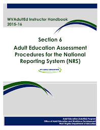 Section 6 Adult Education Assessment Procedures For The