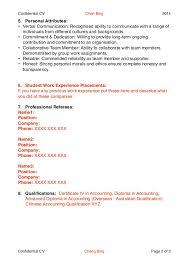 resume writing for school leavers