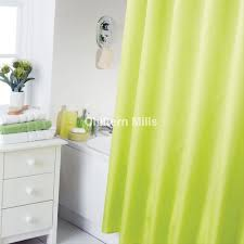 cat eyes neon green shower curtain