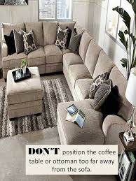 how to place area rug in front of sectional design guide how to style a sectional