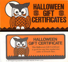 Halloween Gift Cards Neato Coolville 1977 Halloween Gift Certificates Booklet