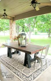 green resin patio table and chairs. build your own outdoor dining table a pottery barn knock off green resin patio and chairs n