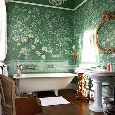 bathroom wallpaper. Flowers Bathroom Wallpaper Design