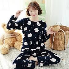 Rita Star Pattern Simple MHRITA 48 Autumn Winter Women Pajamas Set Sleep Shirt Pant