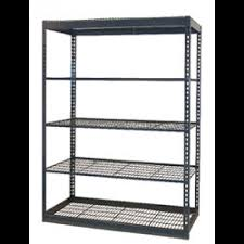 standard duty boltless low profile shelving 36x12x84 w wire decking and side support