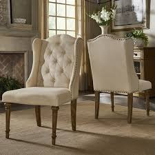gilderoy on tufted wingback dining chairs set of 2 by inspire q artisan