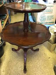 side table vintage round oak side table round retro side table antique vintage round mersman