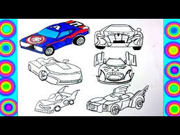 Fun iron man coloring pages for your little one. Superheroes Cars Coloring Hulk Spiderman Thor Iron Man Batman Captain America Youtube