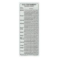 Old Testament Reading Chart Bookmark