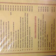 Sunrise coffee has an assortment of vegetarian, vegan and gluten free food items made fresh daily. Here Is A Copy Of Their Menu Picture Of Sunrise Coffee House Battambang Tripadvisor
