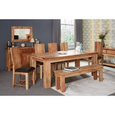 indian dining room furniture. Acacia Dining Table - Large With 6 Chairs Indian Room Furniture U