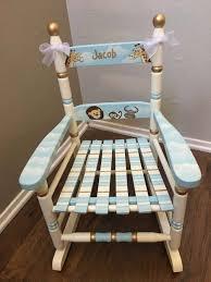 painted kids furniture. Noahs Ark Rocking Chair, Child\u0027s Painted Hand Kids Furniture By Babydreamdecor