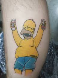Homer Simpson Done At The Wildwood Tattoo Convention By Johnny Marte
