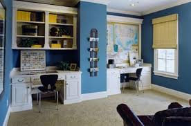 paint ideas for home office. Ultra Marine Blue Home Office Paint Ideas For D
