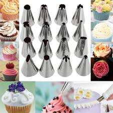 16 Pcs Set Russian Piping Tips Multi Shape Icing Npzzles Cake
