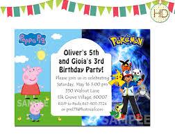 pokemon birthday party invitations templates pokemon birthday invitation template