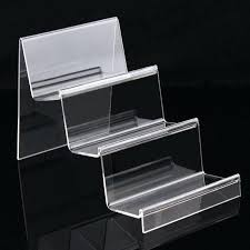 acrylic lucite countertop display case fashion clear 3 layers ladder cellphone stand phone holder font b acrylic countertop display case