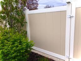 two tone vinyl privacy fence. Brilliant Privacy Vinyl Privacy Fence Inside Two Tone L
