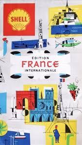 French Travel Brochure Travel Brochures Illustration Map
