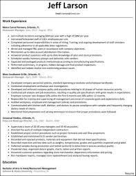 Sample Resume For Restaurant Manager Classy Sample Resume Restaurant Manager Fine Dining About Bunch 9