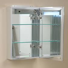 Lighted Bathroom Mirror Cabinet Brilliant Aluminum Medicine Cabinet With Lighted Mirror Bathroom