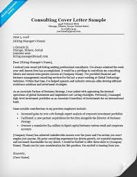 Consulting Resume Templates Consulting Cover Letter Sample Writing Tips Resume Companion